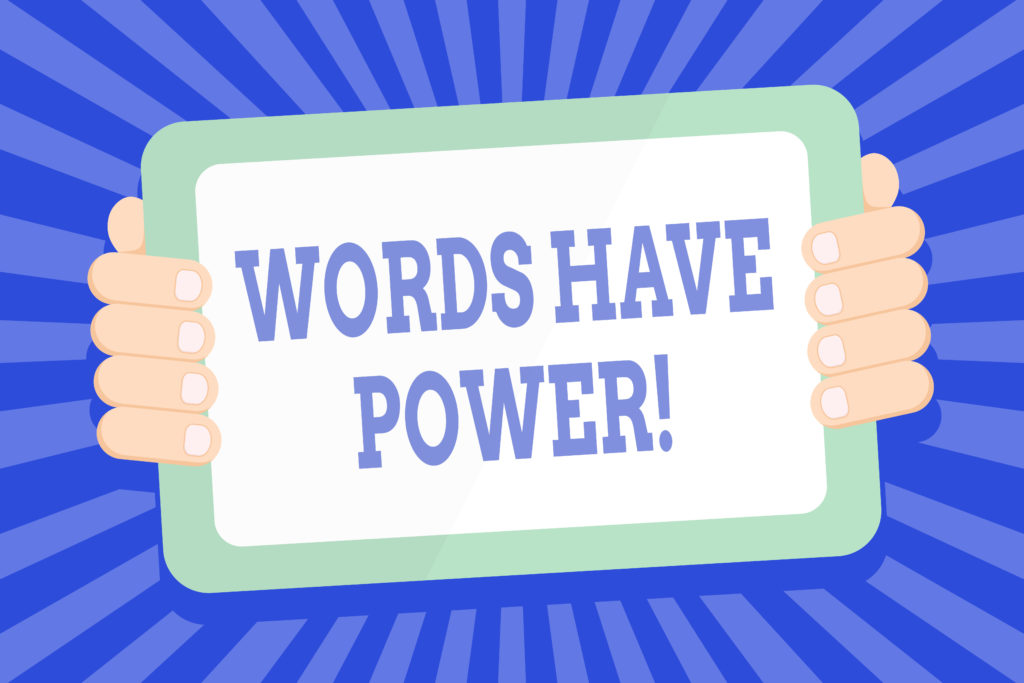Words have power graphic