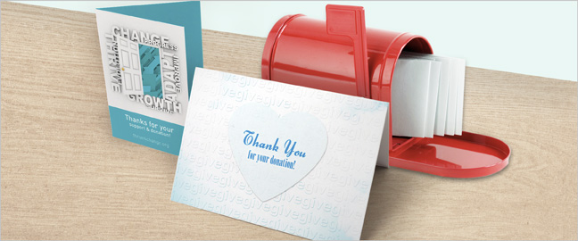 nonprofit appeal thank you cards