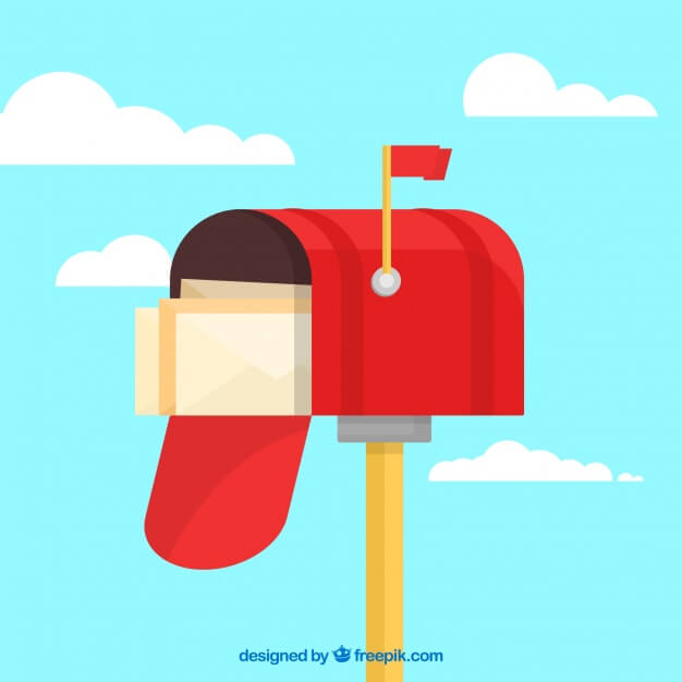 illustration of mailbox with envelopes