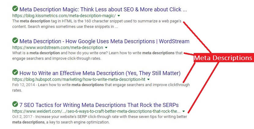 SEO meta description examples