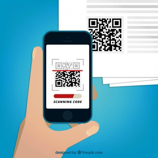 phone scanning qr code