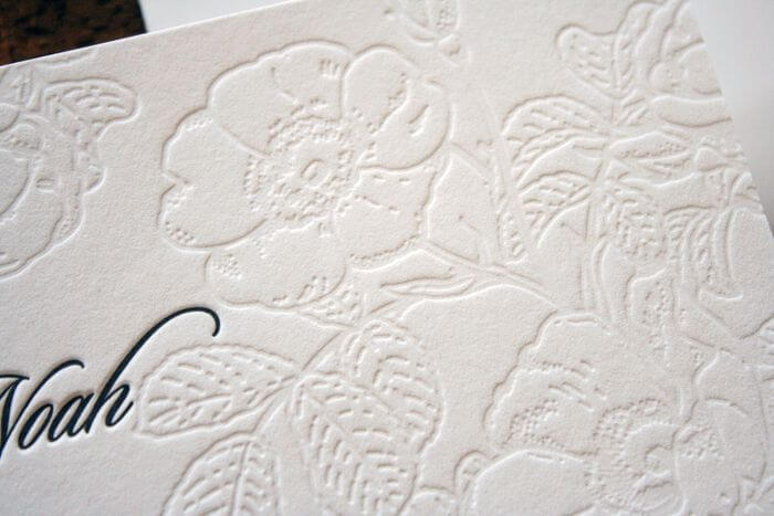 letterpress flower design