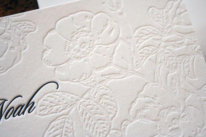 letterpress flower design