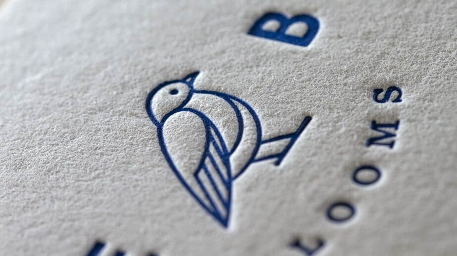 Letterpress sheet with bird image