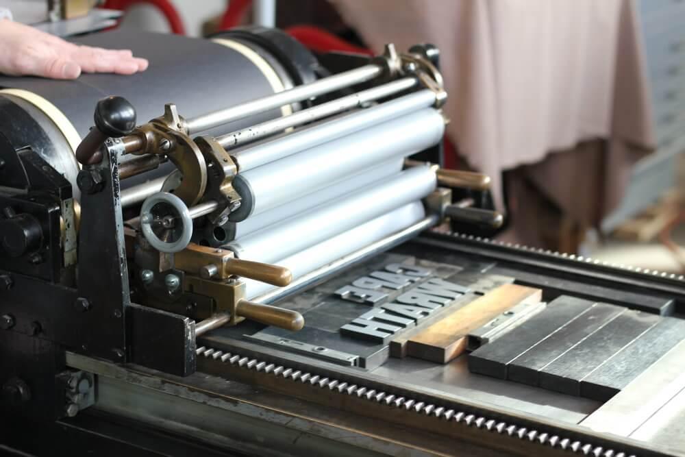 traditional printing press