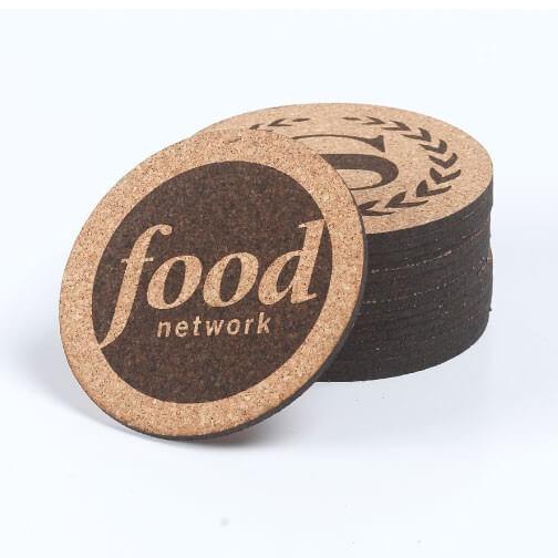 Branded cork coaster