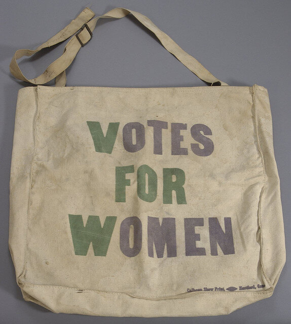 Branded tote reading Votes for Women