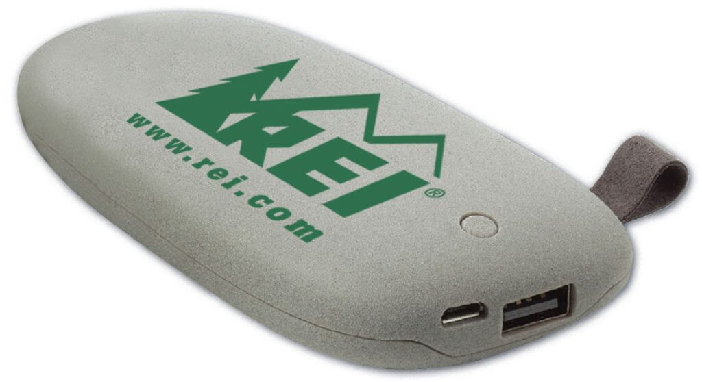 Branded power bank in the shape of a stone