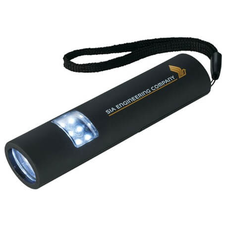 Black branded flashlight