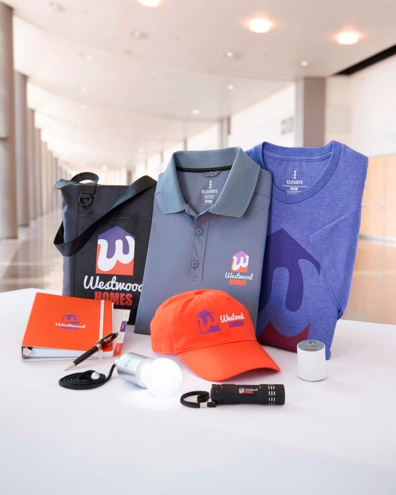 Selection of branded items for employees